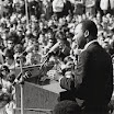 Dr. Martin Luther King speaking against war in Vietnam, St. Paul Campus, University of Minnesota
